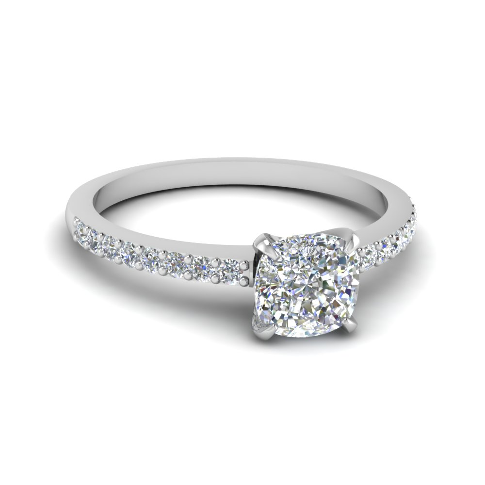 delicate cushion cut diamond petite engagement ring in FD1026CUR NL WG.jpg