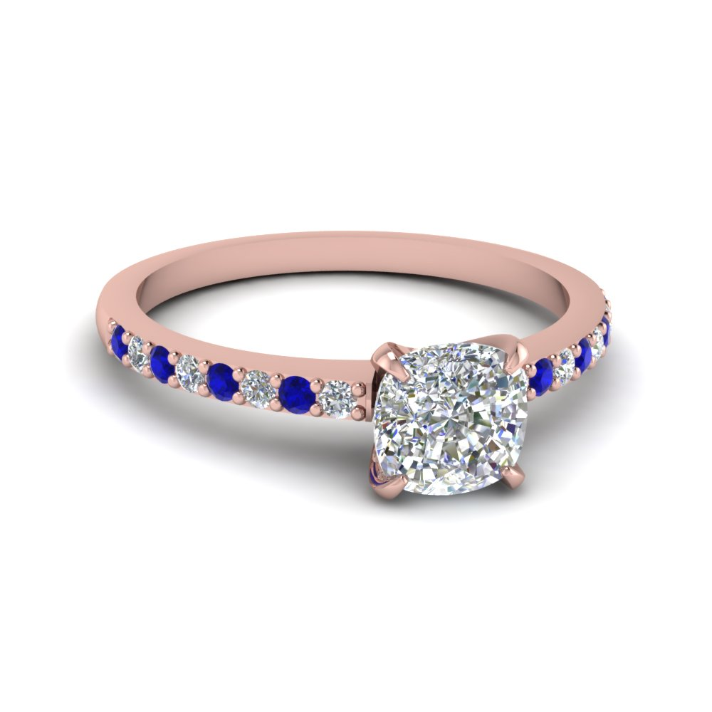 delicate cushion cut diamond petite engagement ring with sapphire in FD1026CURGSABL NL RG.jpg