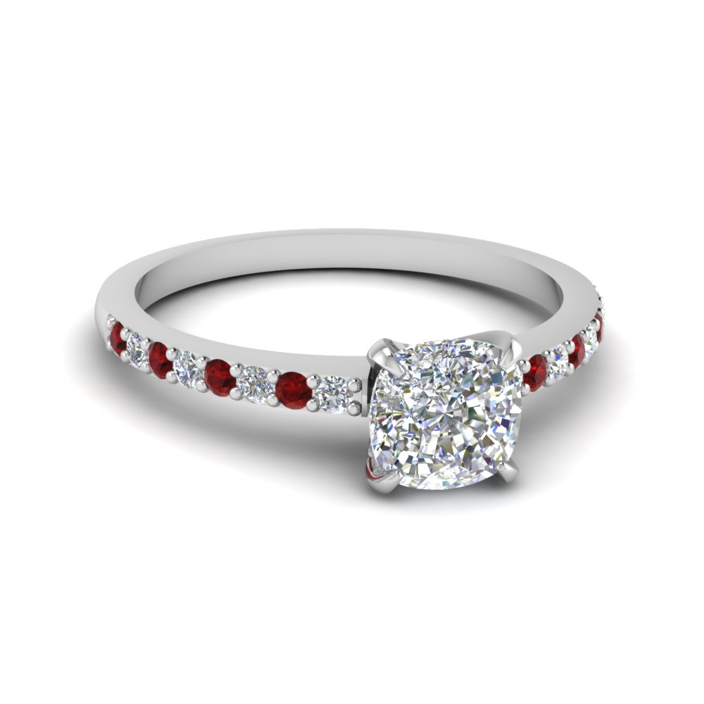 delicate cushion cut diamond petite engagement ring with ruby in FD1026CURGRUDR NL WG.jpg