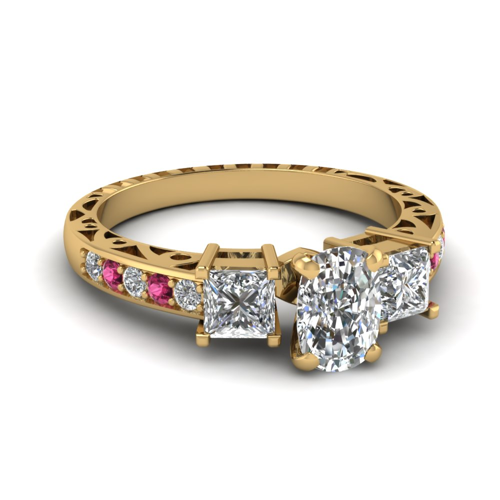 Cushion Cut Vintage Engagement Rings