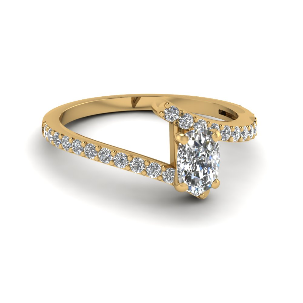 Bypass Cushion Diamond Ring