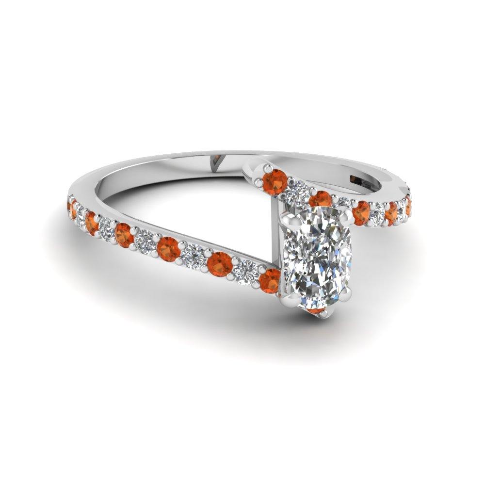 Petite Bypass Cushion Cut Diamond Ring