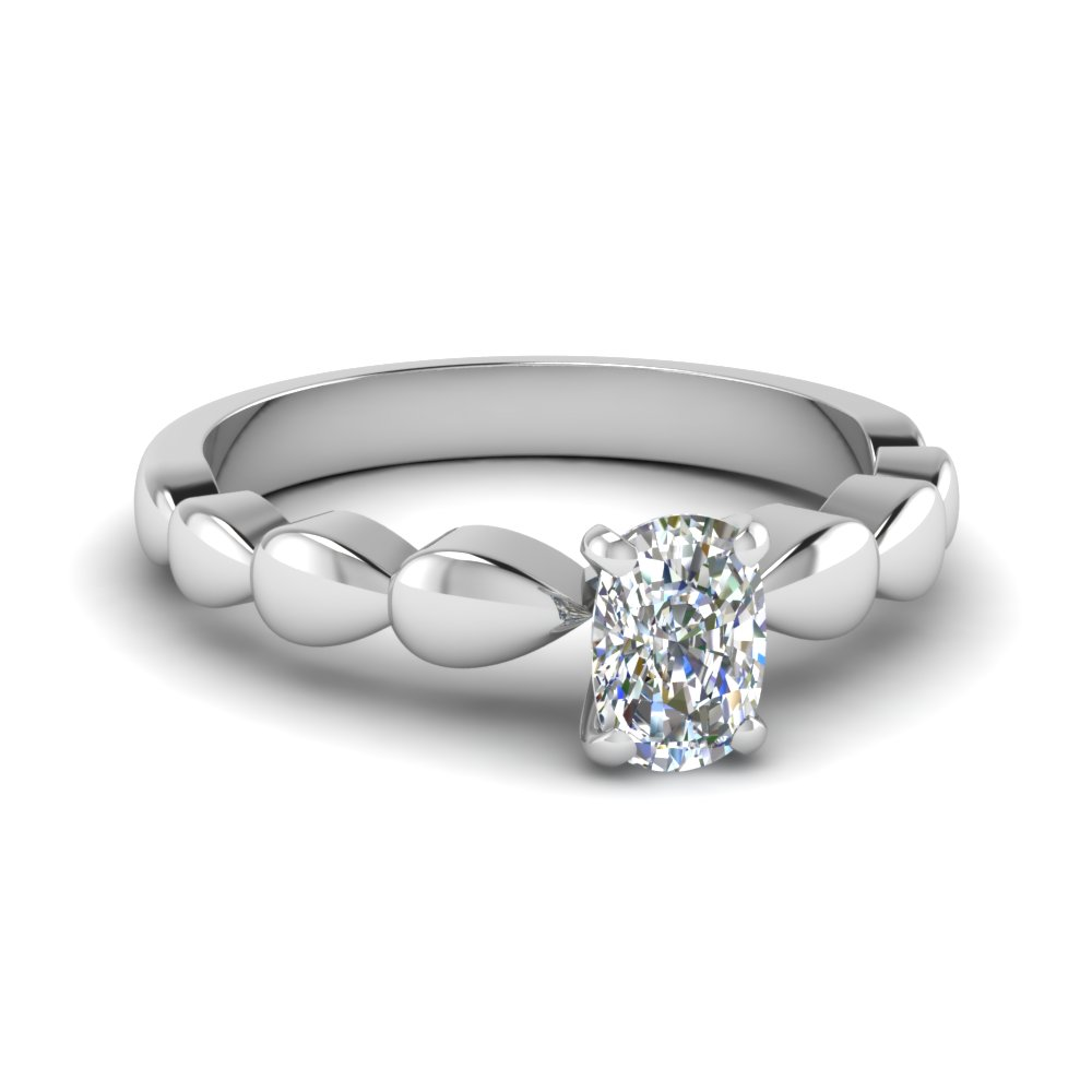 Drop Design Solitaire Ring