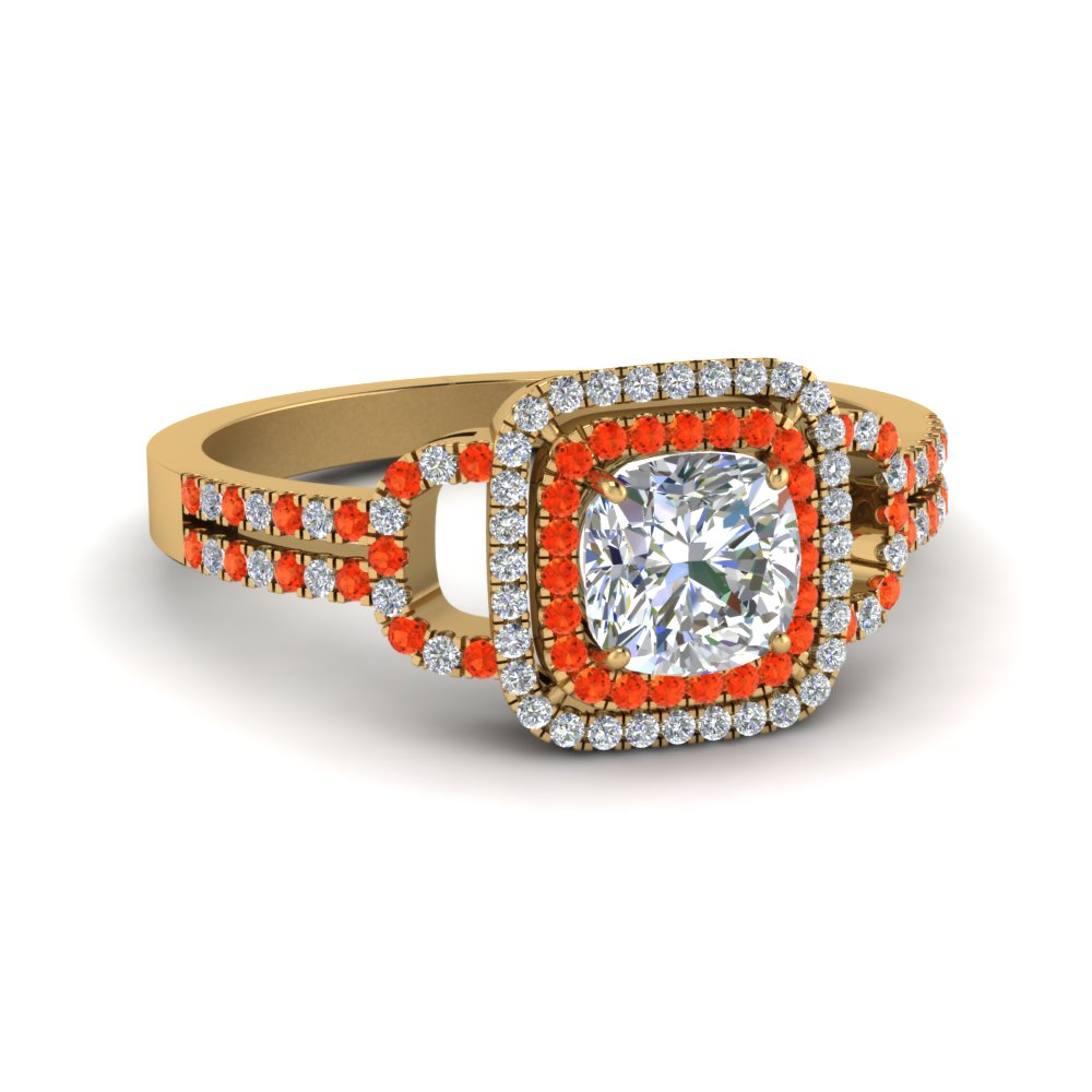cushion cut double halo diamond engagement ring with orange topaz in FDENS3202CURGPOTO NL YG.jpg