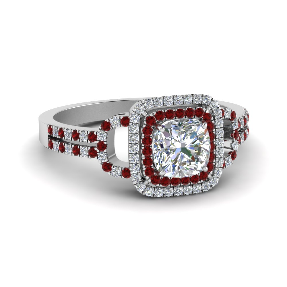cushion cut double halo diamond engagement ring with ruby in FDENS3202CURGRUDR NL WG.jpg