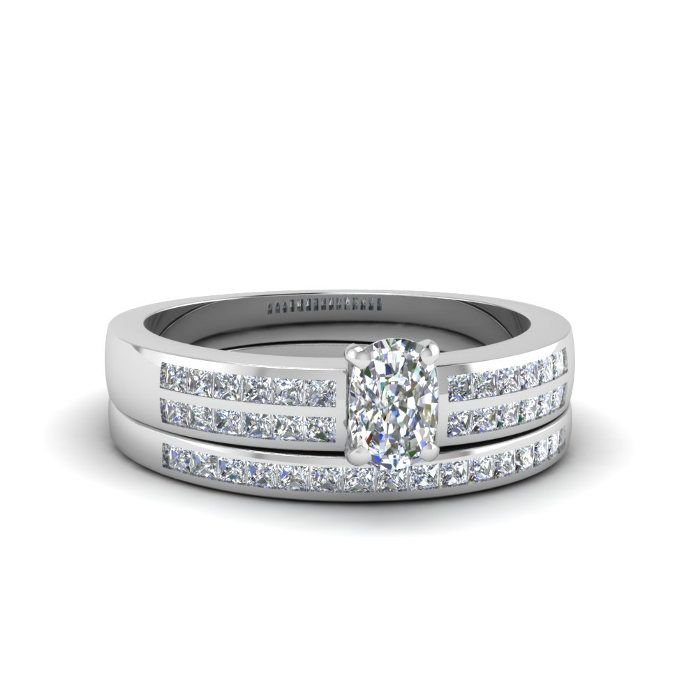 cushion cut double row channel diamond wide bridal set in FDENS3122CU NL WG.jpg
