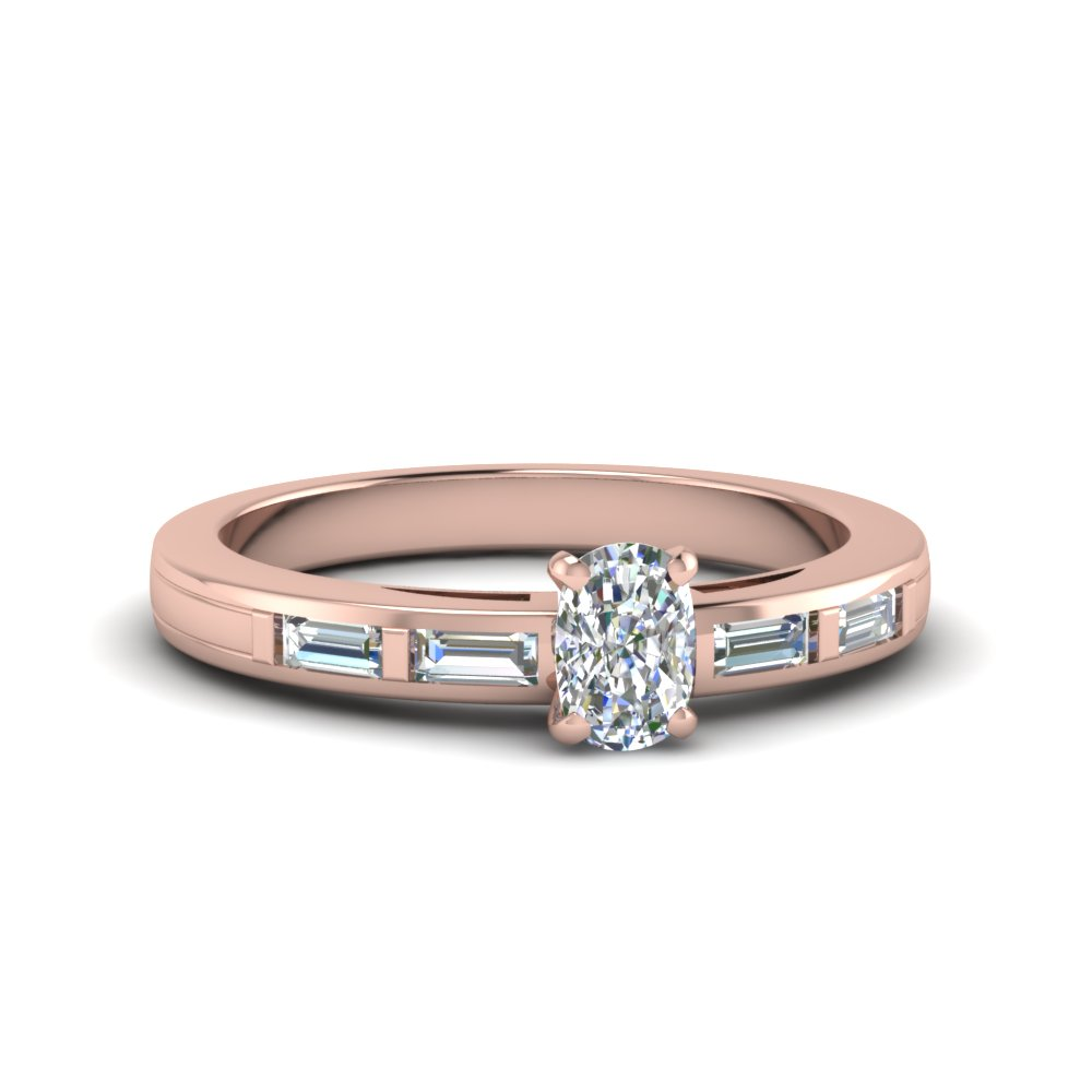 Baguette Set Engagement Ring