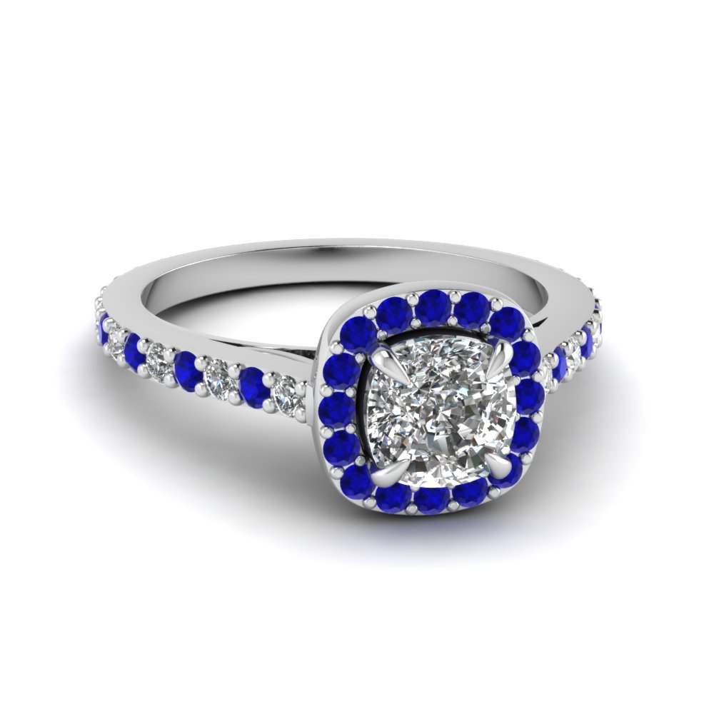 betteridge pave cut sapphire cushion surround p half diamond ring moon sides