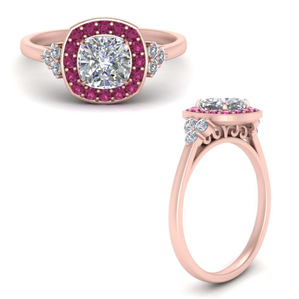 cushion-cut-halo-cluster-diamond-engagement-ring-with-pink-sapphire-in-FD122778CURGSADRPIANGLE3-NL-RG