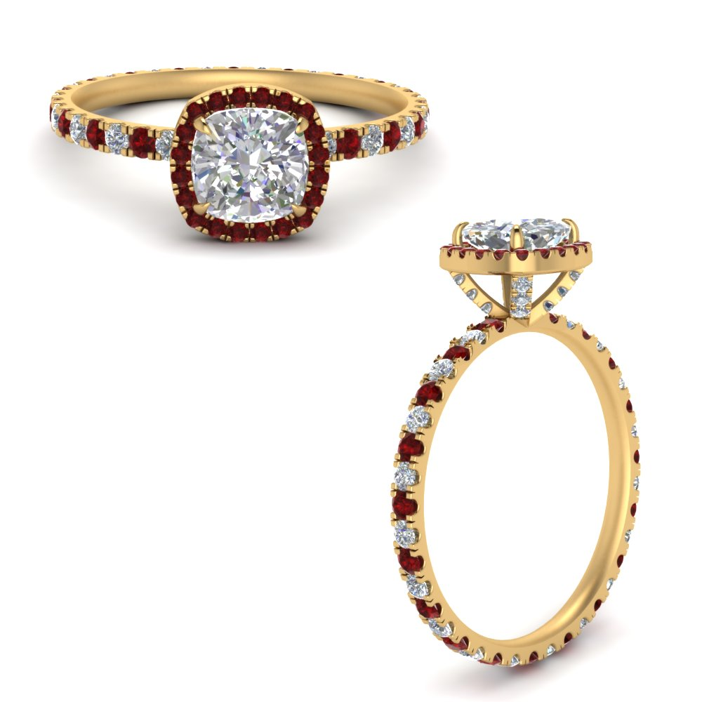 cushion-cut-halo-eternity-diamond-ring-with-ruby-in-FD9372CURGRUDRANGLE3-NL-YG