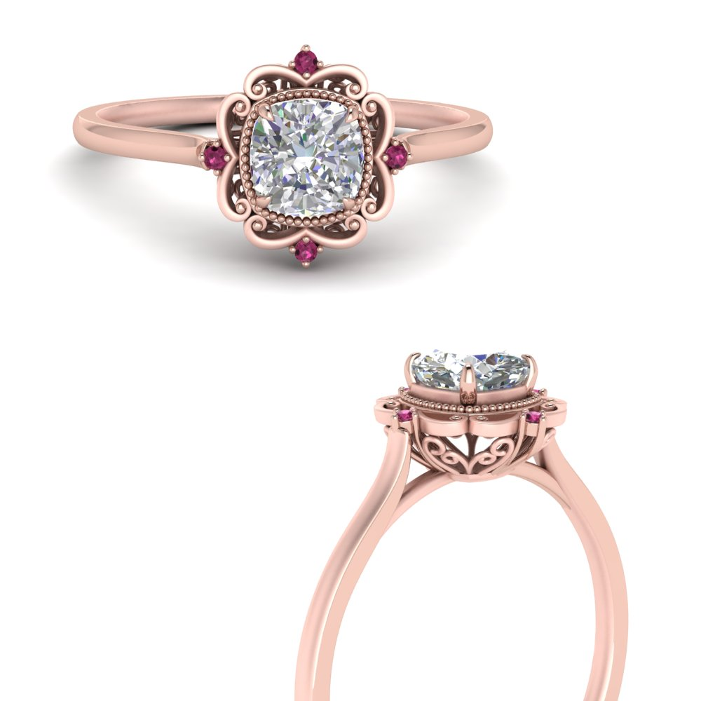 cushion-cut-halo-filigree-pink-sapphire-engagement-ring-in-FD124061CURGSADRPIANGLE3-NL-RG