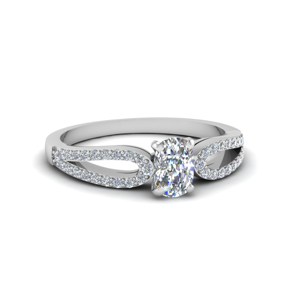 Women Engagement Ring 0.75 Ct. Cushion Cut Diamond