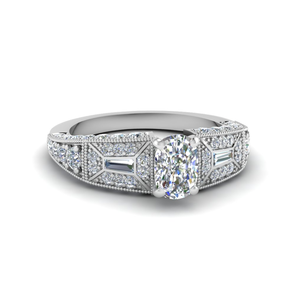best bargains on cushion cut vintage engagement rings
