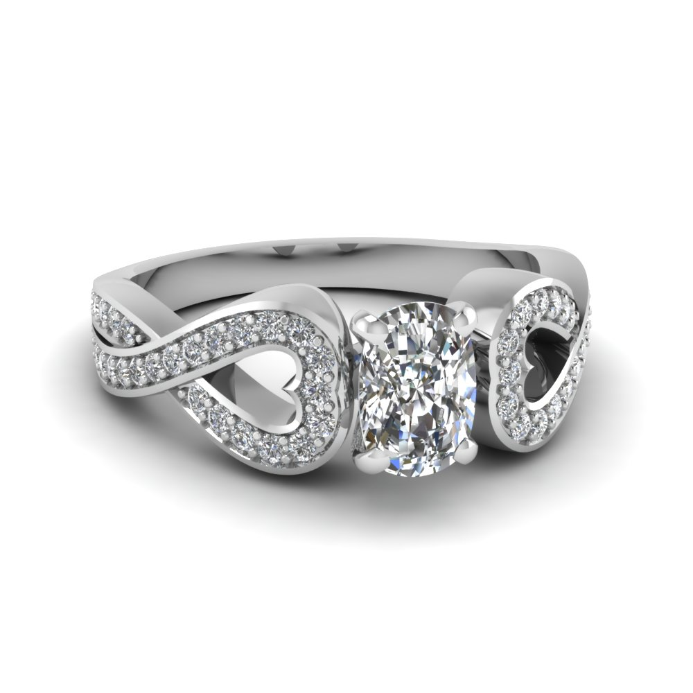 3/4 Ct. Cushion Cut Petite Engagement Rings