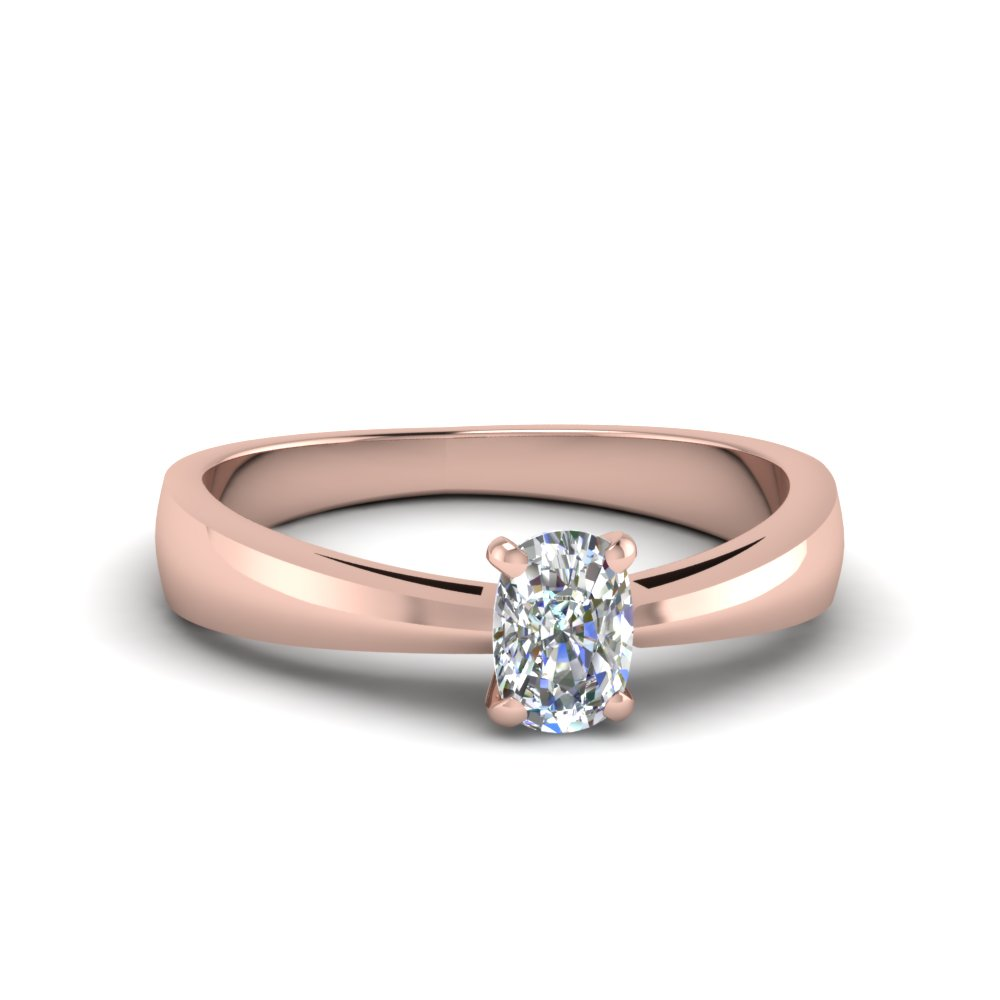 tapered cushion cut solitaire engagement ring in FDENR678CUR NL RG