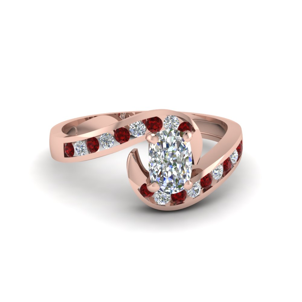 Swirl Cushion Diamond Ring
