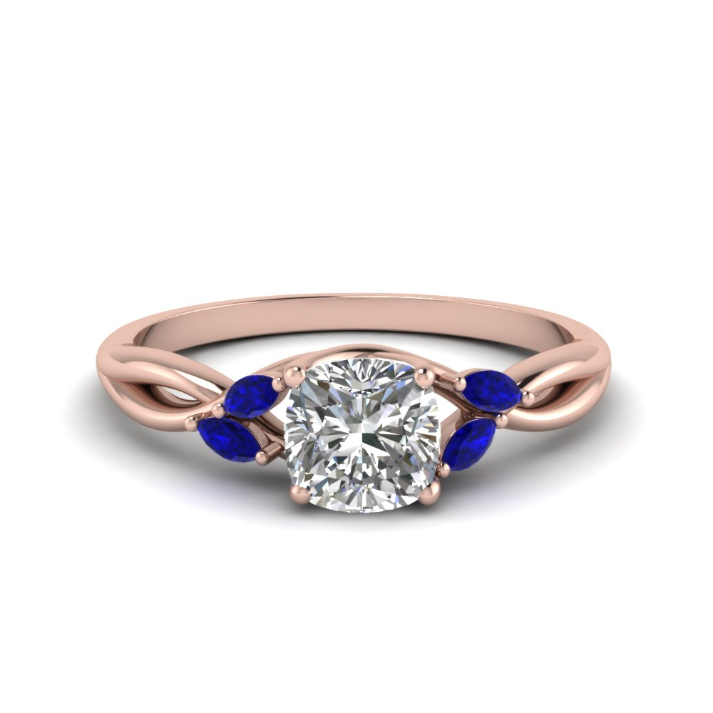 Twisted Petal Sapphire Ring