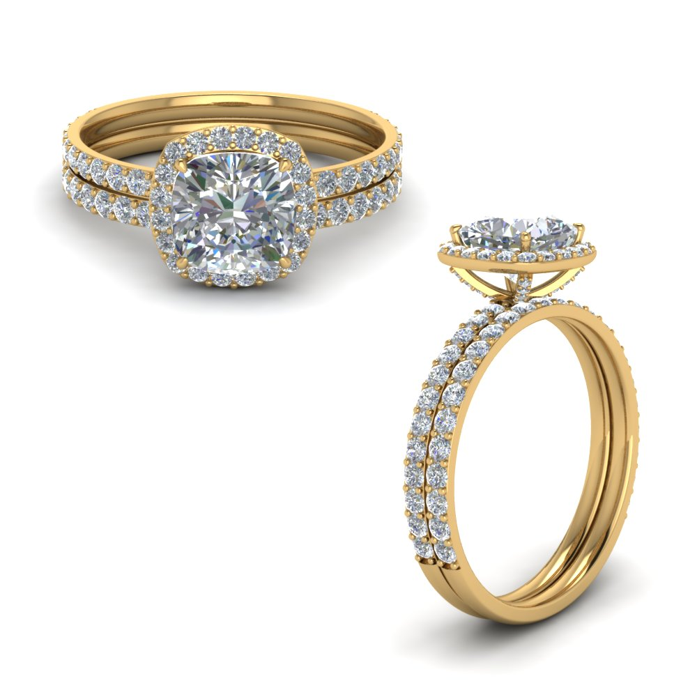 cushion halo diamond wedding ring set in FD8507CUANGLE1 NL YG.jpg