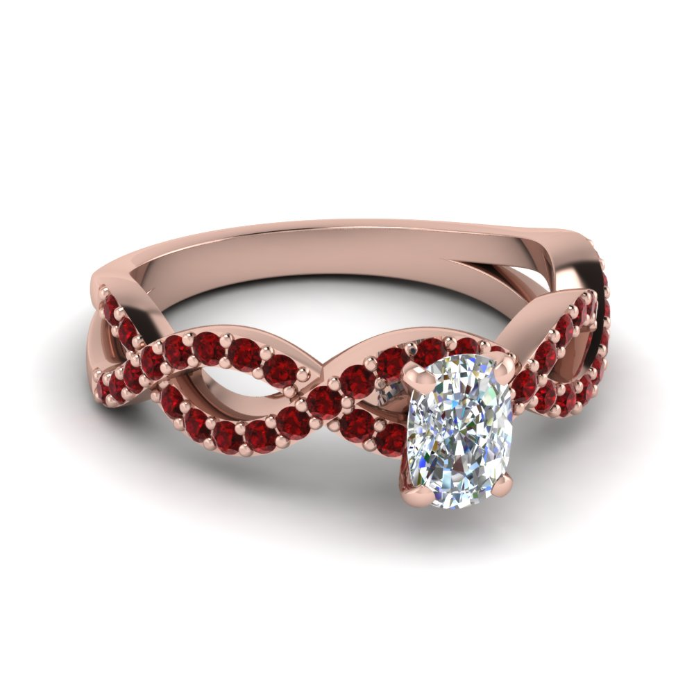 Ruby Infinity Engagement Ring