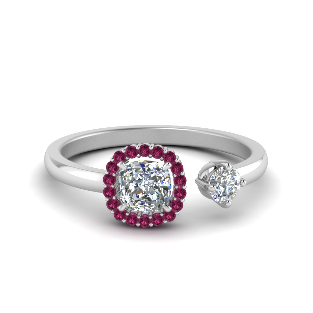 cushion pink sapphire halo open diamond promise ring in sterling silver FD71903CURGSADRPI NL WG GS.jpg