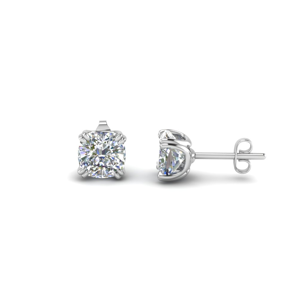 2 Ct. Cushion Stud Earring
