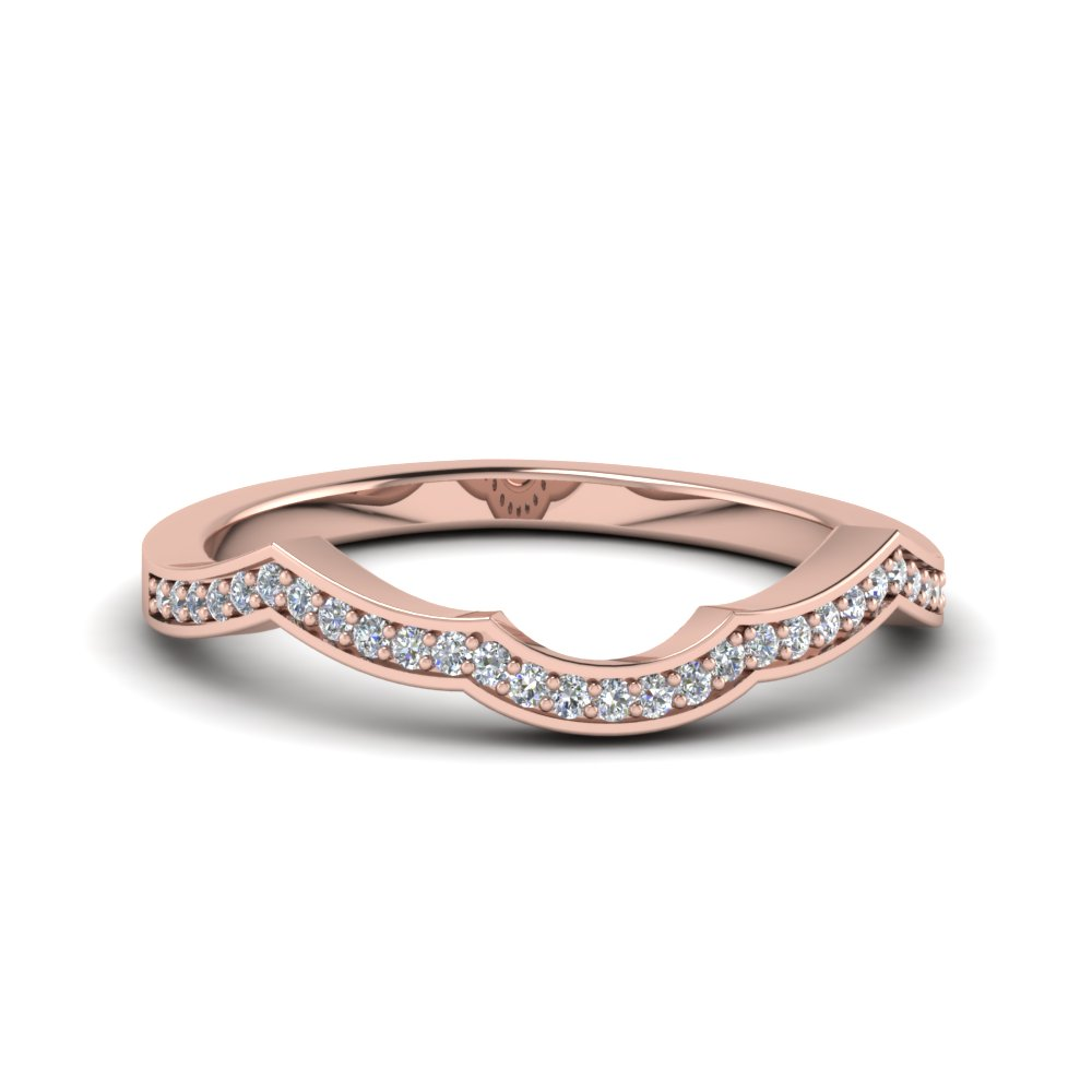 Pave Curve Diamond Band