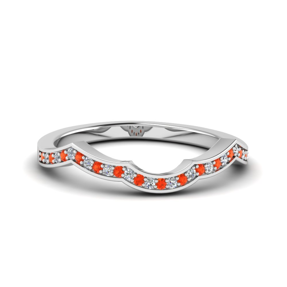 Curve Pave Orange Topaz Band