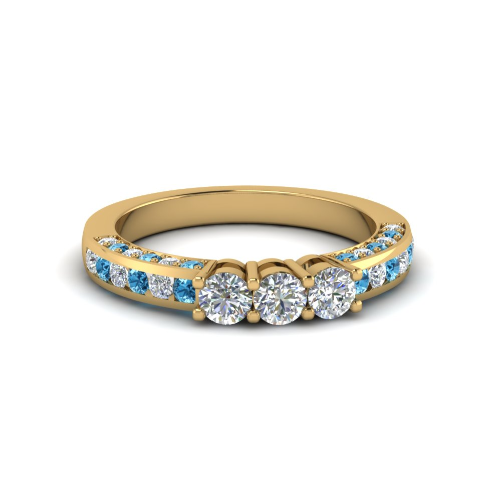 Custom Blue Topaz Wedding Rings And Bands At Unbeatable Prices|Fascinating Diamonds