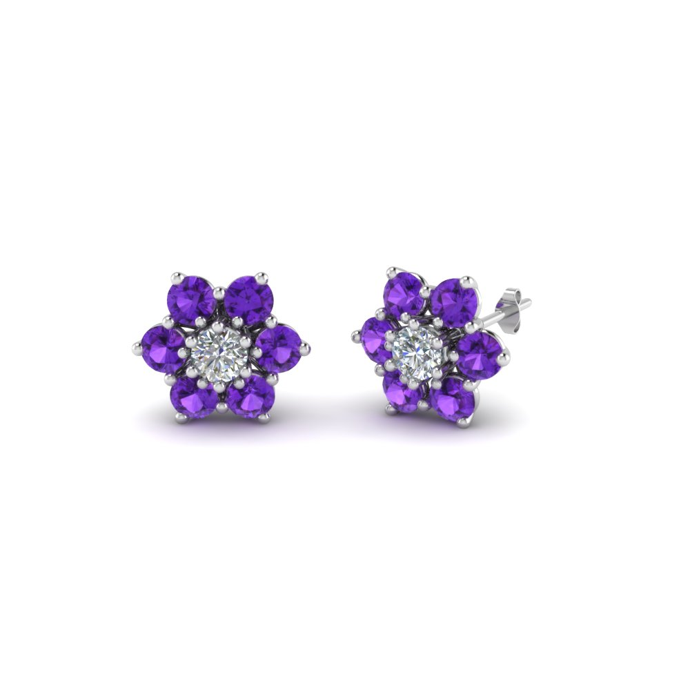 Purchase Purple Topaz Earrings For Women| Fascinating Diamonds