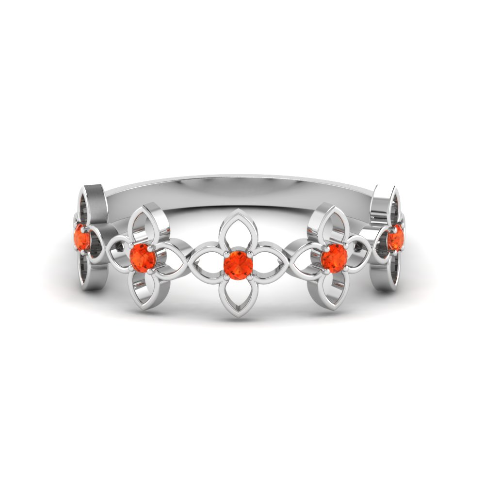 Daisy Orange Topaz Band