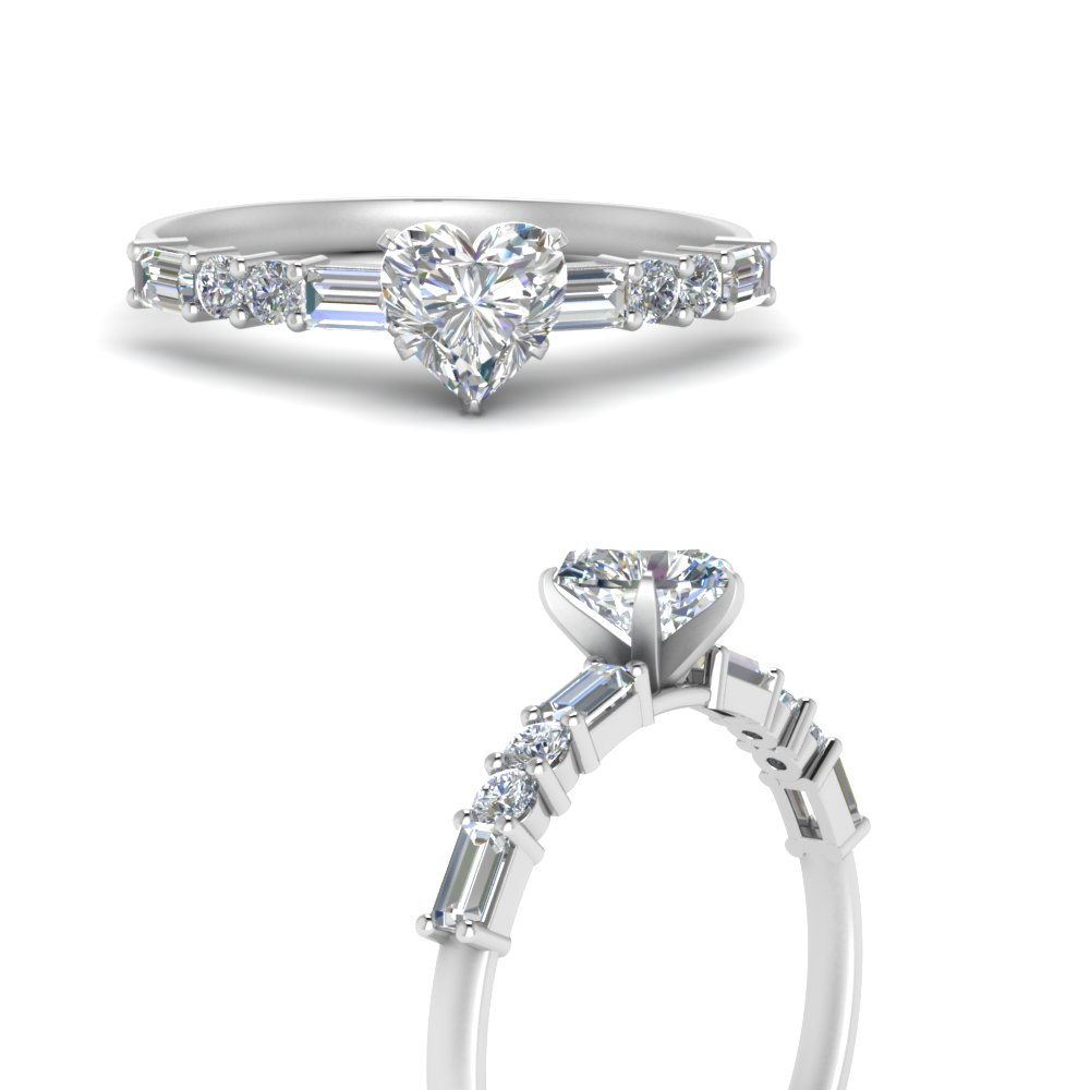 Moissanite Low Profile Engagement Ring
