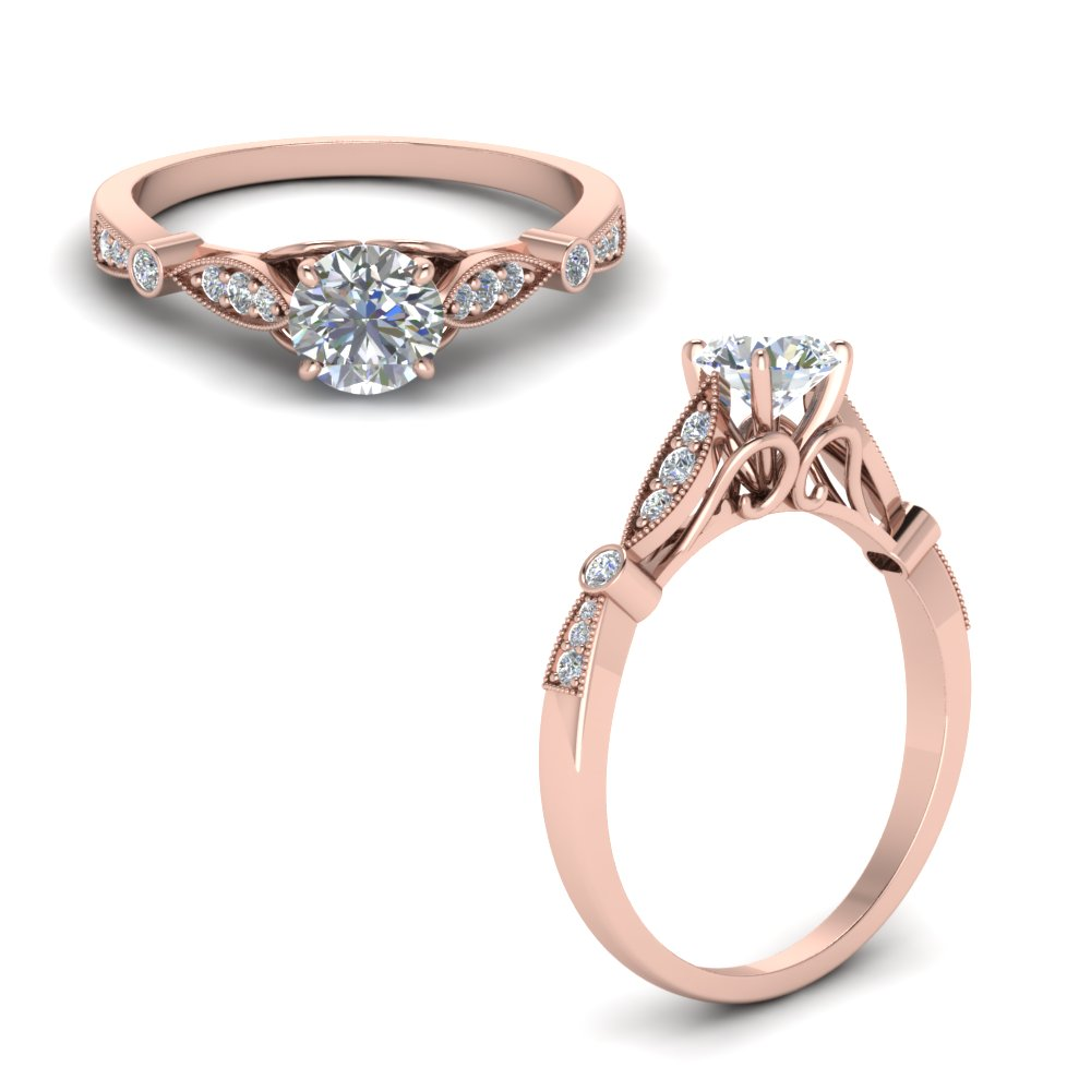 Delicate Art Deco Engagement Ring