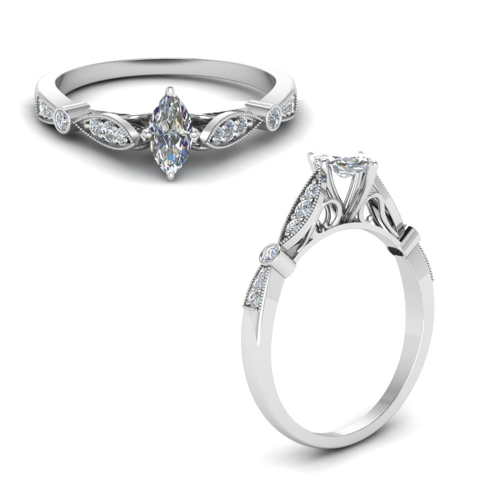delicate art deco marquise diamond engagement ring in FD8593MQRANGLE1 NL WG.jpg