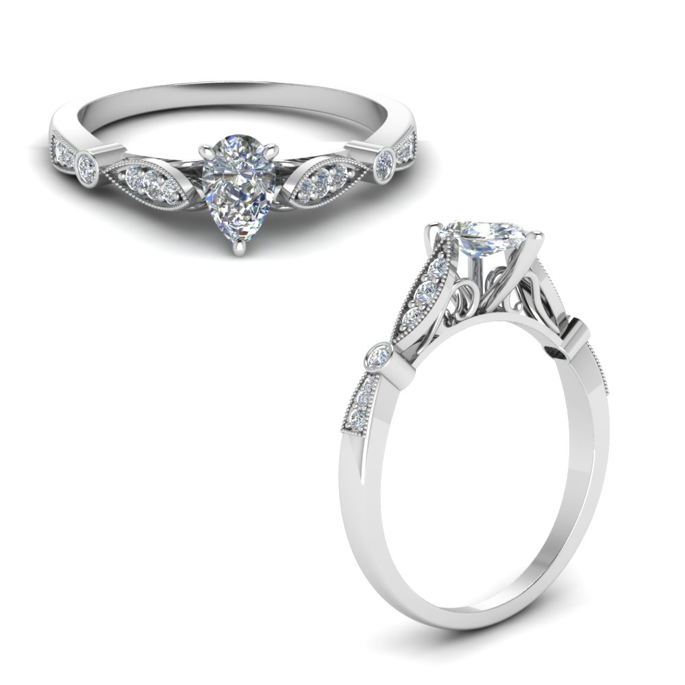 delicate art deco pear diamond engagement ring in FD8593PERANGLE1 NL WG.jpg