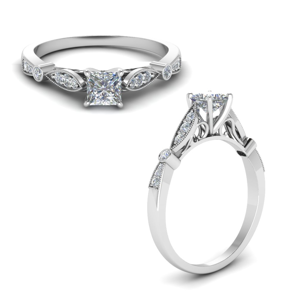 delicate art deco princess diamond engagement ring in FD8593PRRANGLE1 NL WG.jpg