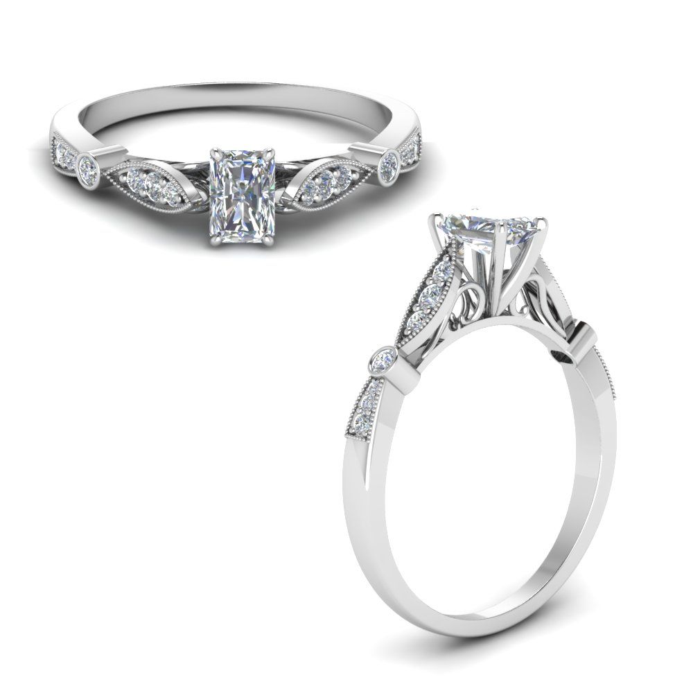 delicate art deco radiant diamond engagement ring in FD8593RARANGLE1 NL WG.jpg
