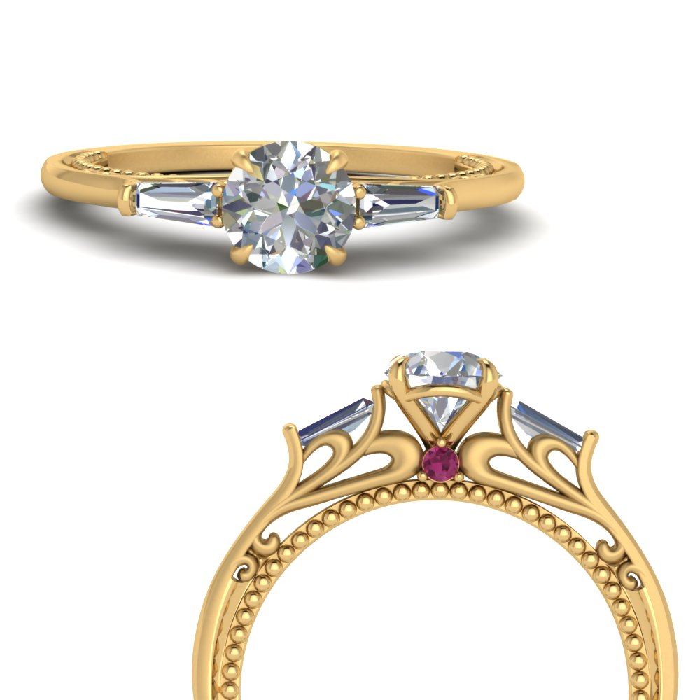 delicate-baguette-3-stone-moissanite-ring-with-pink-sapphire-in-FDENS194RORGSADRPIANGLE3-NL-YG