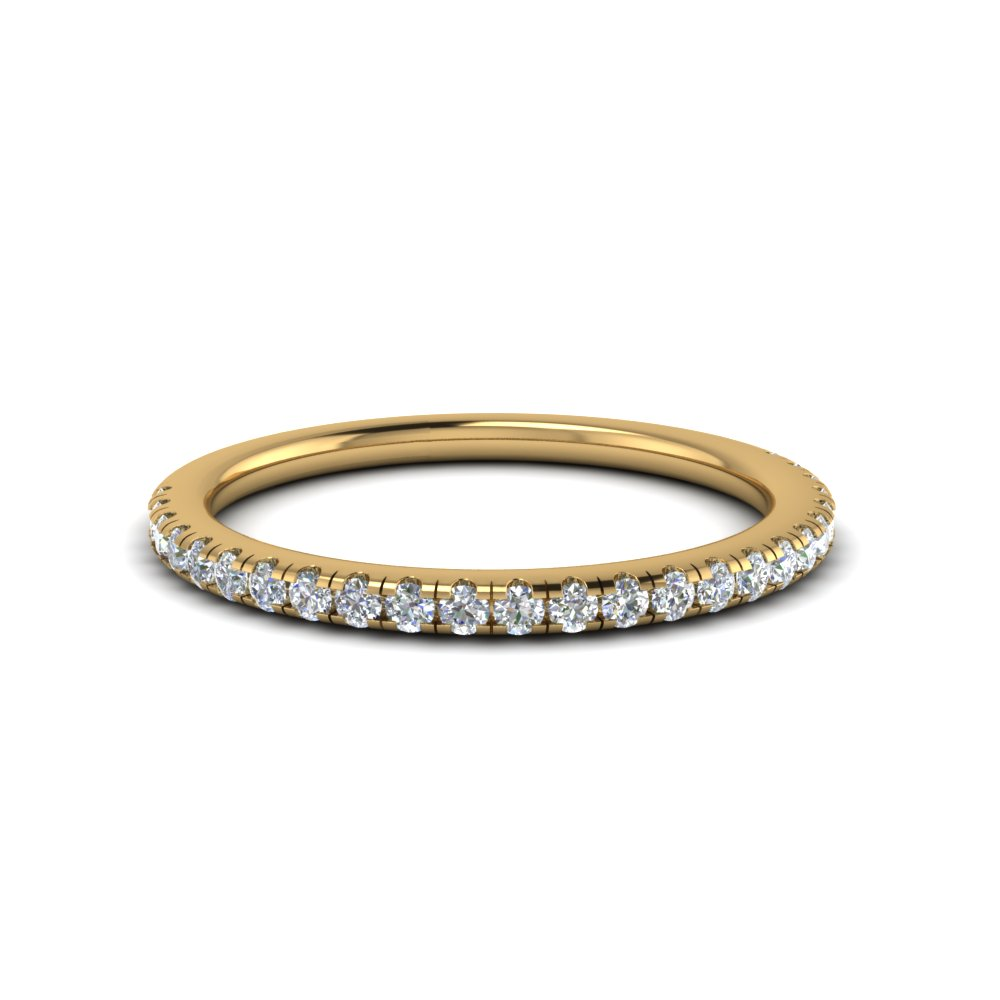 Delicate Diamond Anniversary Band In 14K Yellow Gold