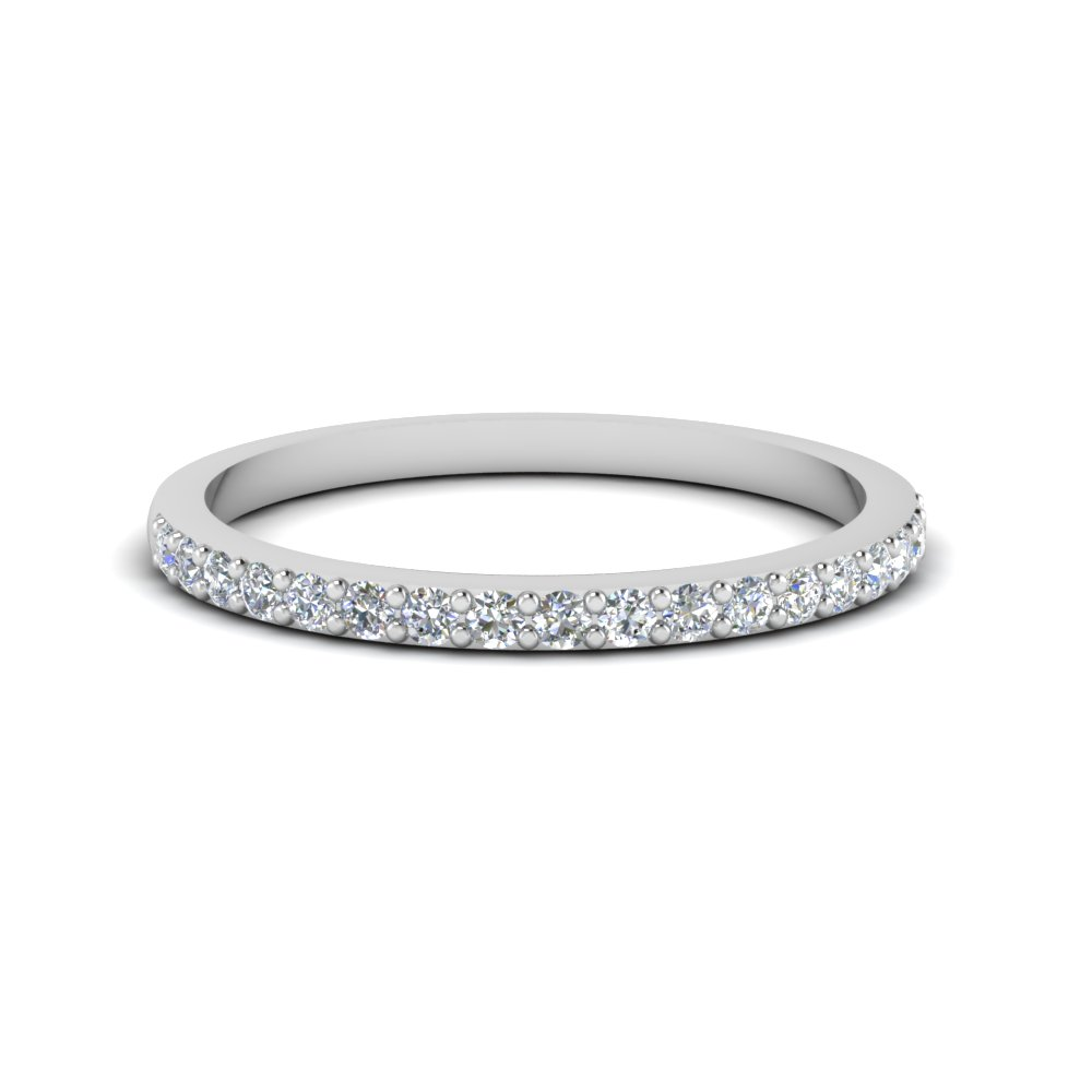 Platinum Delicate Diamond Band