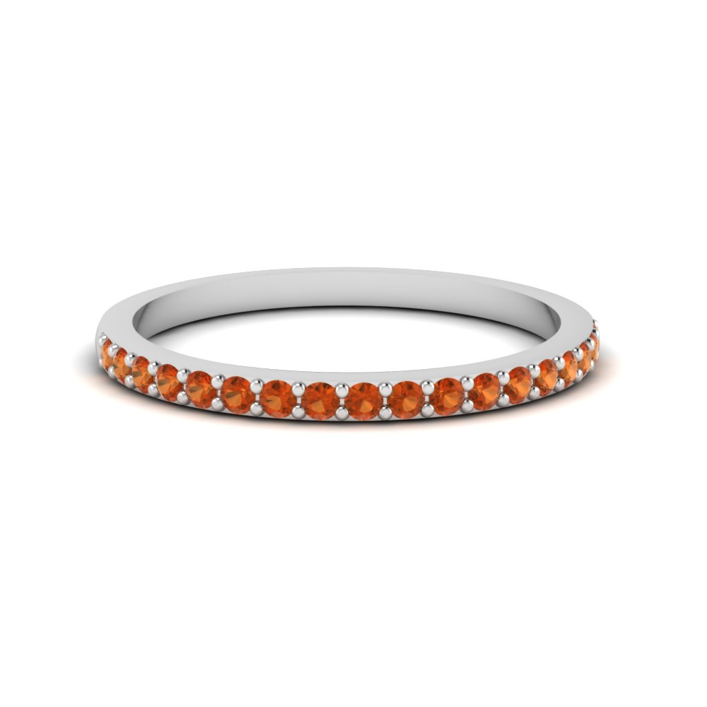 delicate band with orange sapphire in FD1026BGSAOR NL WG GS