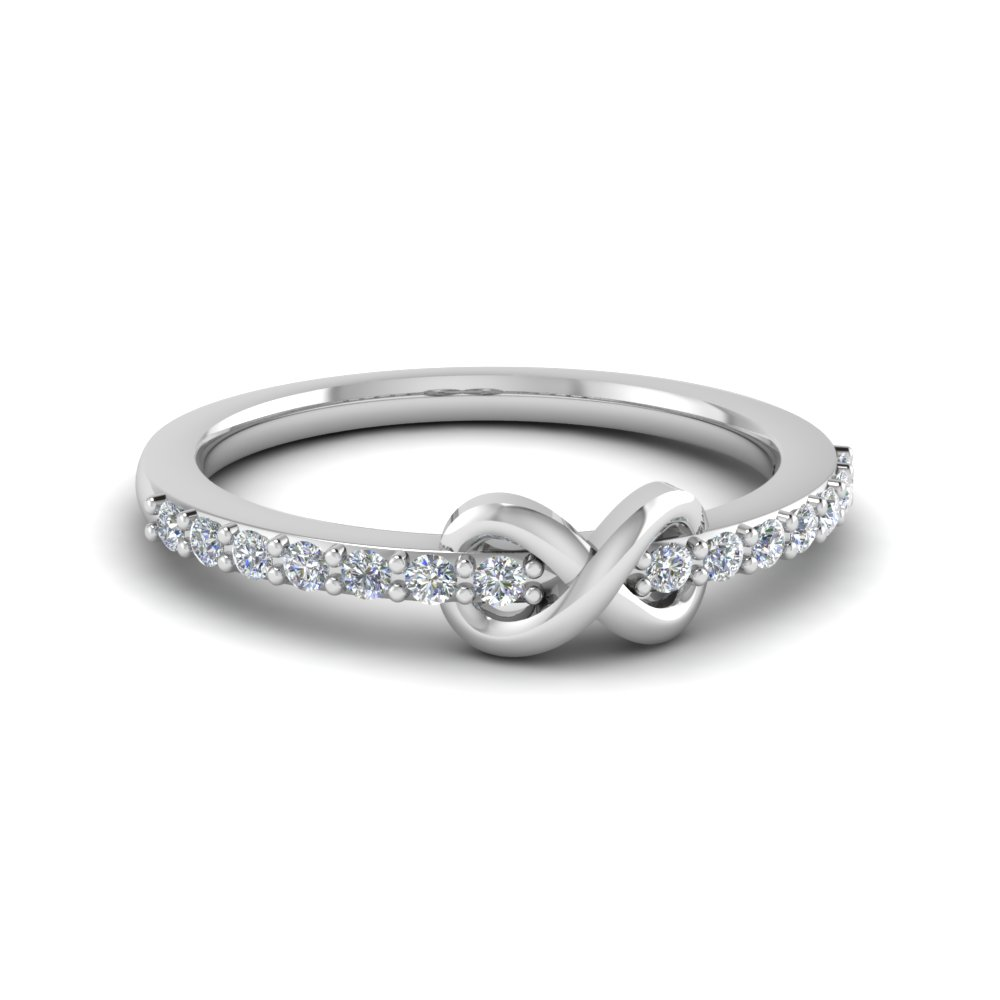 delicate diamond promise ring in FD8017B NL WG