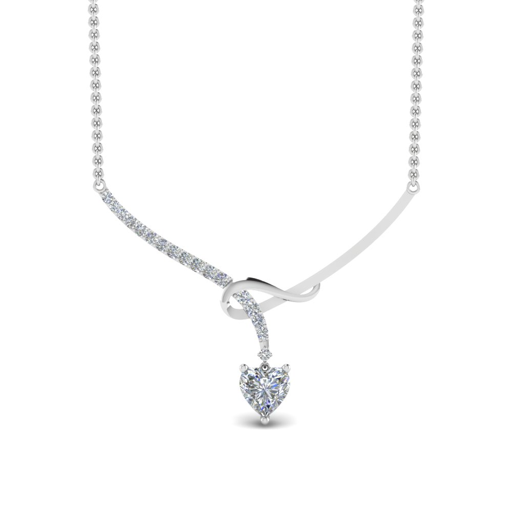 Delicate Diamond Twist Women Necklace