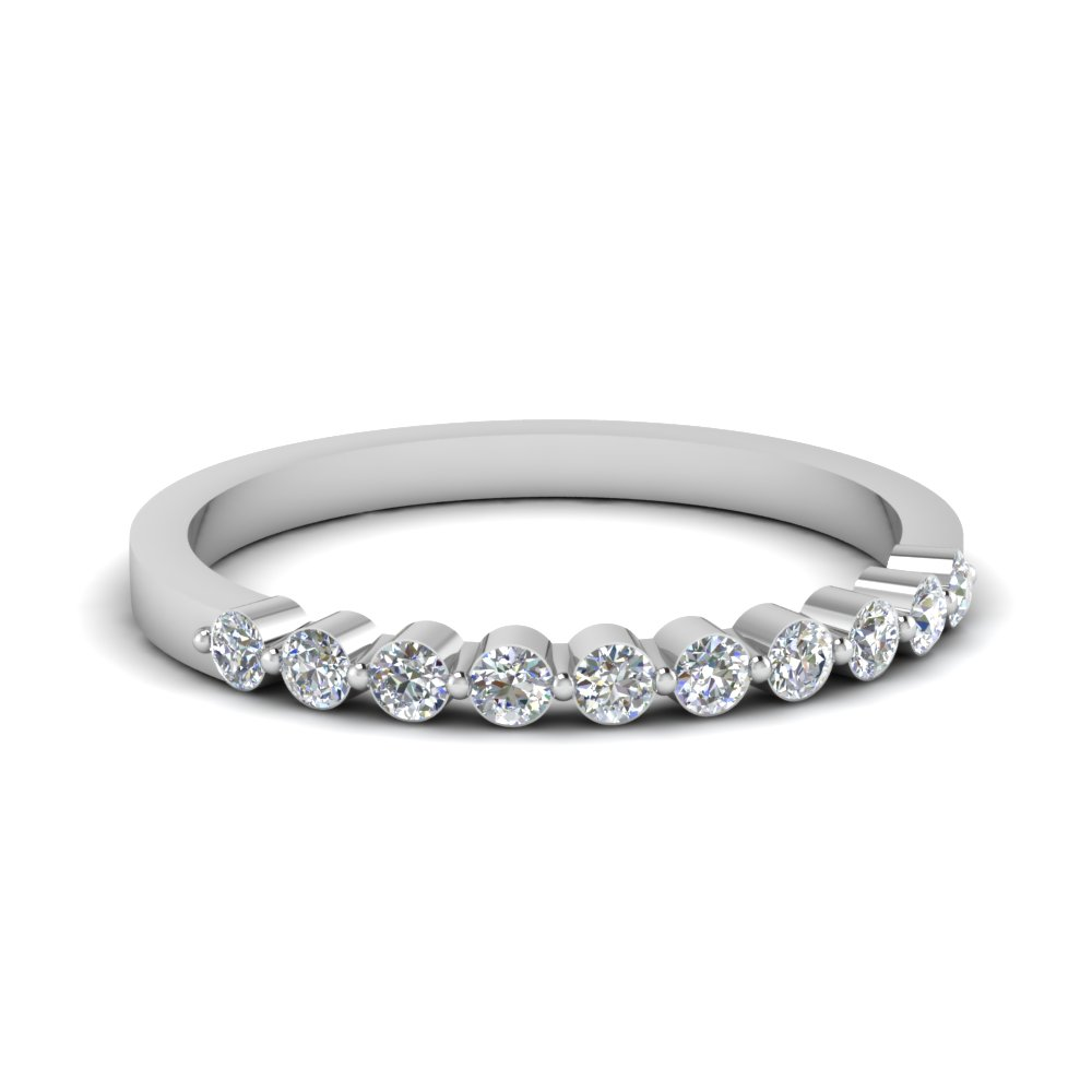 Floating Diamond Wedding Band