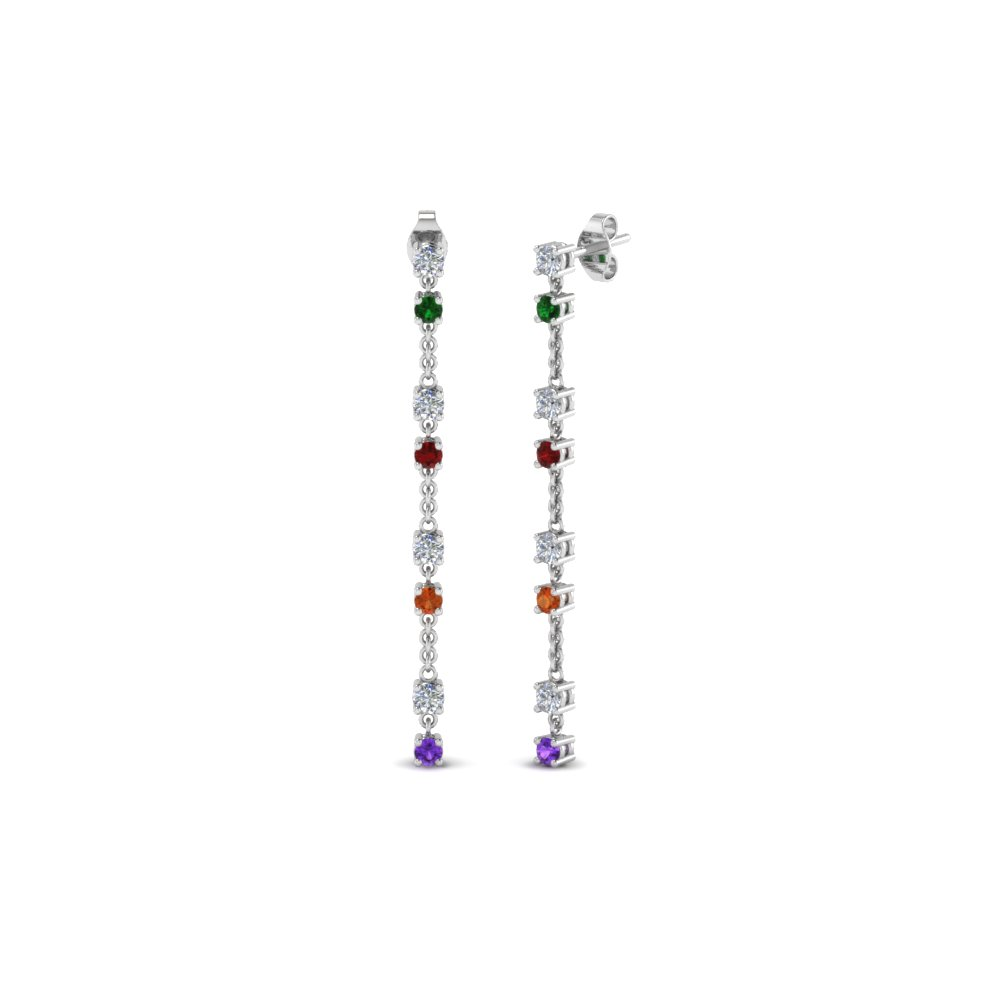 Delicate Gemstone Earring For Mom In Fdear652340gmd Nl