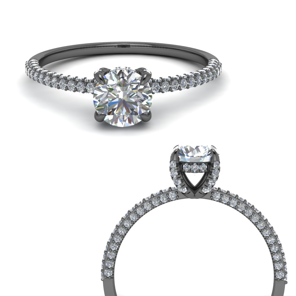 delicate hidden halo diamond engagement ring in FD9134RORANGLE3 NL BG.jpg