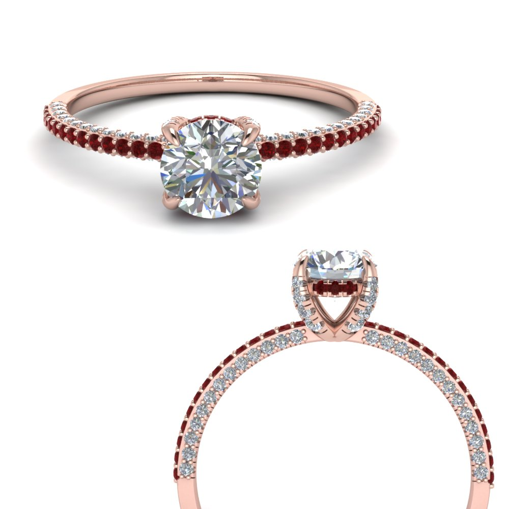 Delicate Hidden Halo Diamond Ring