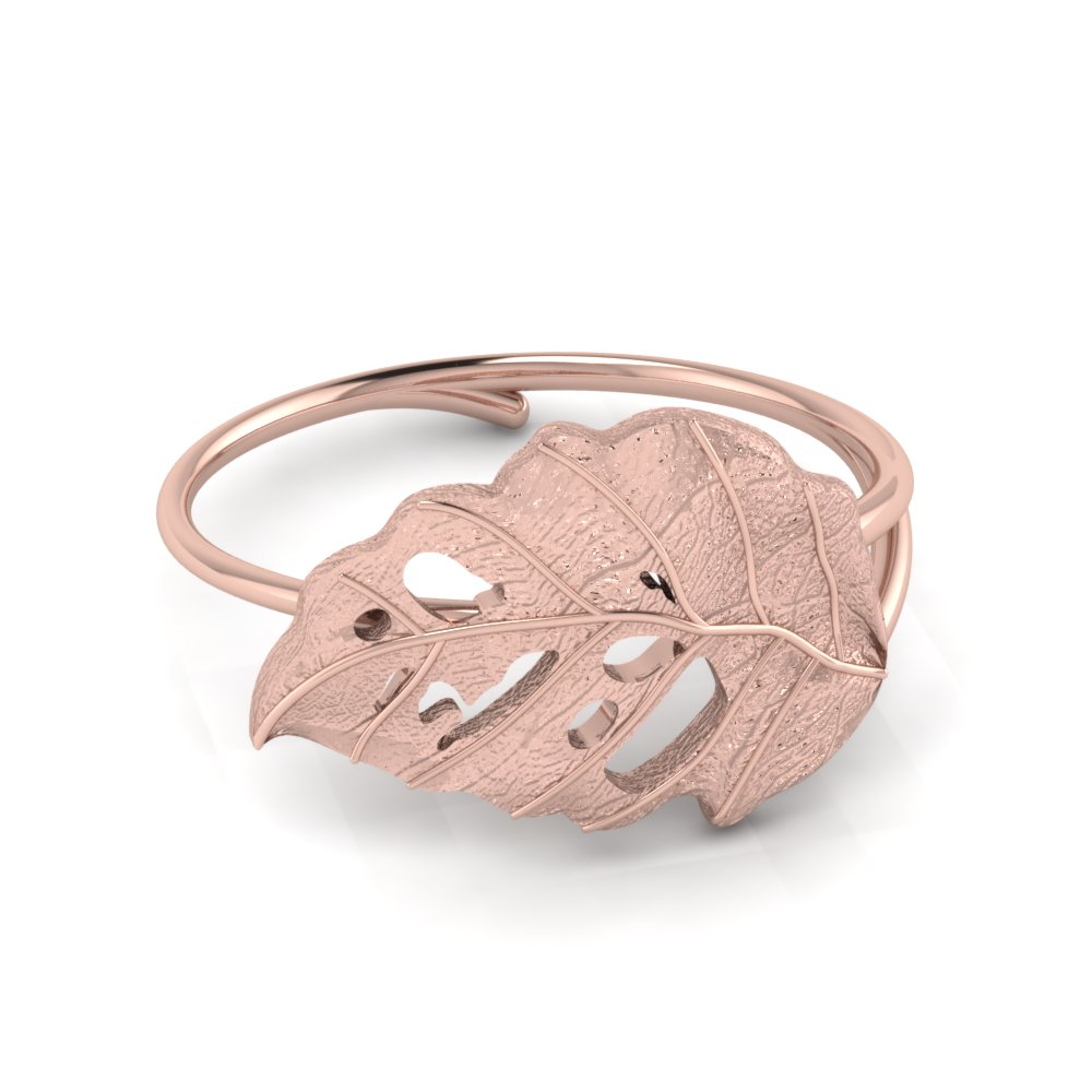 Delicate Rose Gold Leaf Ring