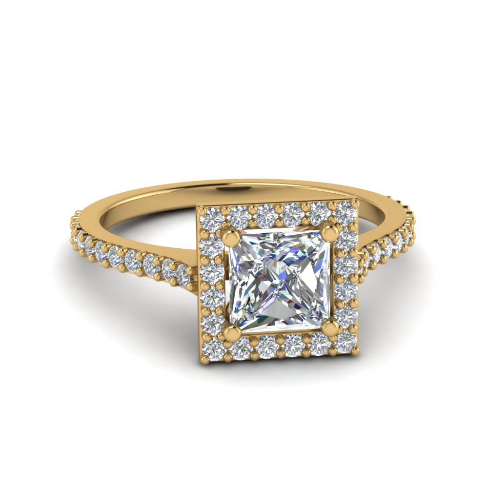 Cathedral Halo Diamond Ring