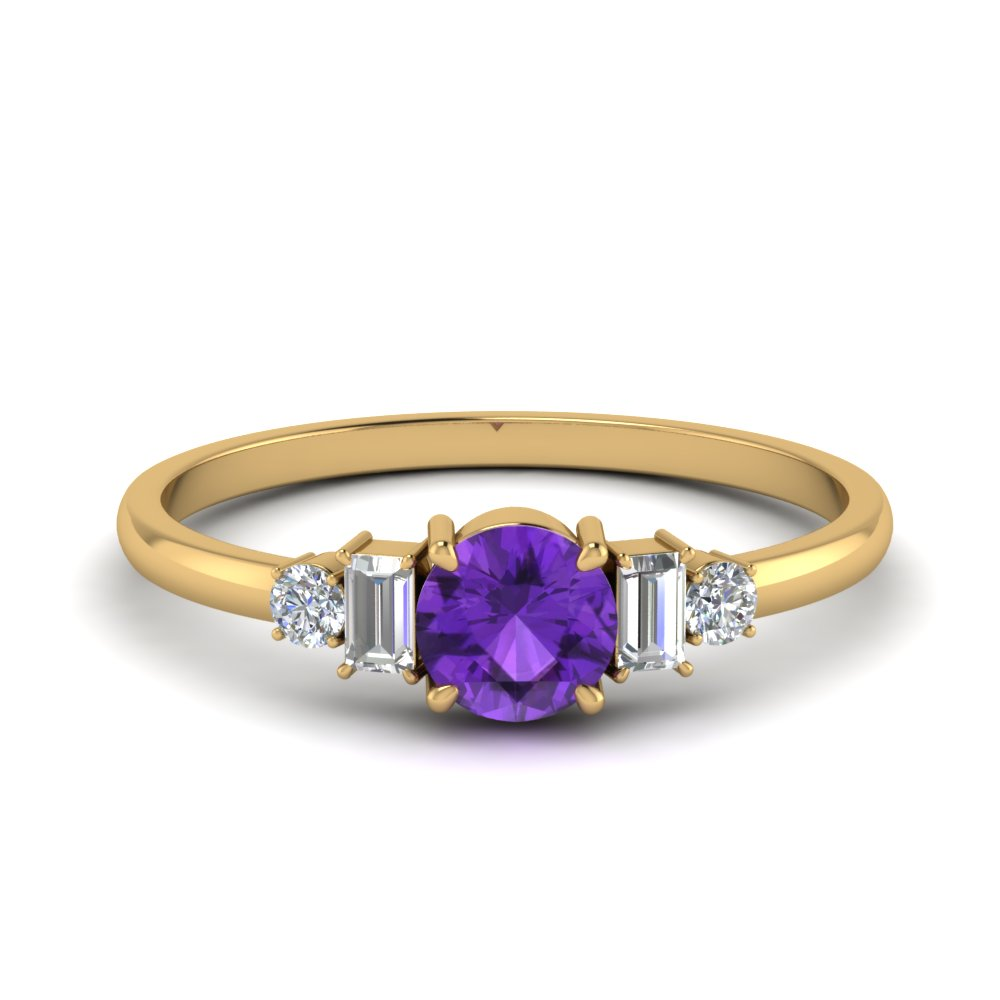 Purple Topaz Baguette Ring