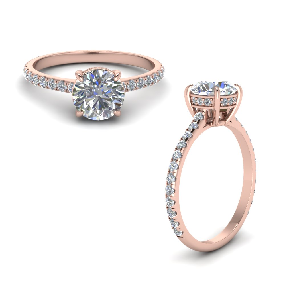 Low Profile Delicate Rose Gold Ring